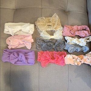 Baby girl lot of 12 headbands
